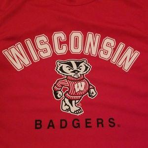 UW Madison Bucky Badger Sleeveless Shirt Sports L